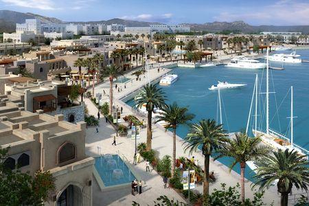Al di sopra delle nuove terre fronte a mare è prevista la realizzazione di diverse tipologie di fabbricati, hotel, ville, centri commerciali.