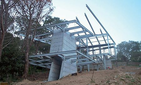 Casa «O» a Cagliari, in costruzione.