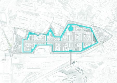 Il canale d'acqua che circonda il sito espositivo di Expo 2015.