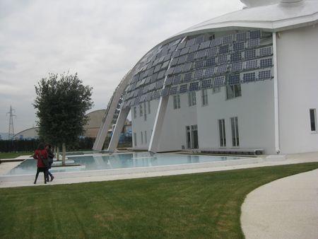 Una vista esterna del Kerakoll innovation center (GreenLab) della società di Sassuolo (Mo).