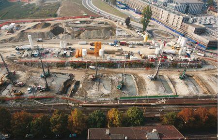 Cantiere passante ferroviario, Torino.