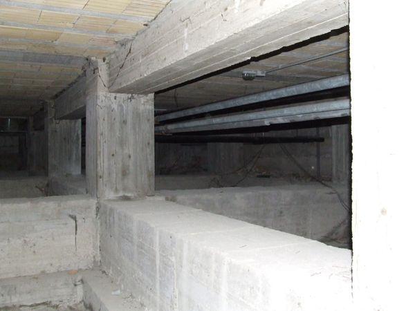 Rilievo della struttura: particolare del pilastro e dell'area di intervento.