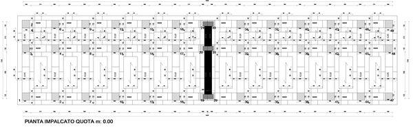 Rilievo della struttura complessità del sito con i differenti pilastri da tagliare.