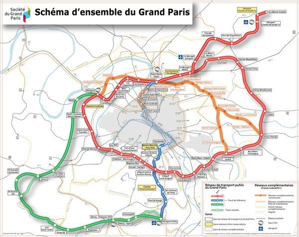 Lo schema delle nuove linee del Progetto Grand Parix Express .