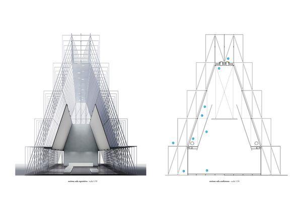 Sezioni di progetto. (Studio Scandurra)
