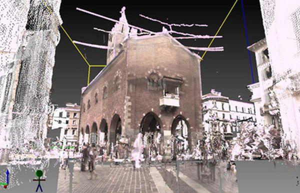 Arengario, antico Palazzo comunale di Monza, scansioni 3D.