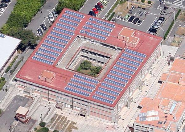 Veduta aerea dell'edificio in esame.