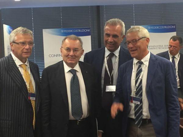 Nel corso dell'assemblea ordinaria di Federcostruzioni è avvenuto l'annuncio dei due progetti strategici alla presenza del presidente dell'Agcm, Giovanni Pitruzzella, e di Confindustria, Giorgio Squinzi.