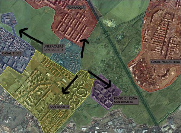 San Basilio è una periferia romana formata da diverse isole: scopo di uno dei sette progetti messi in campo dalle università romane è di riconnettere le zone del quartiere.