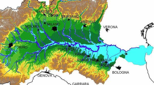 Mappa della pericolosità da alluvioni per il reticolo principale e per quello secondario dell'Emilia-Romagna (Servizio Difesa del suolo, della costa e bonifica dell'Emilia-Romagna).