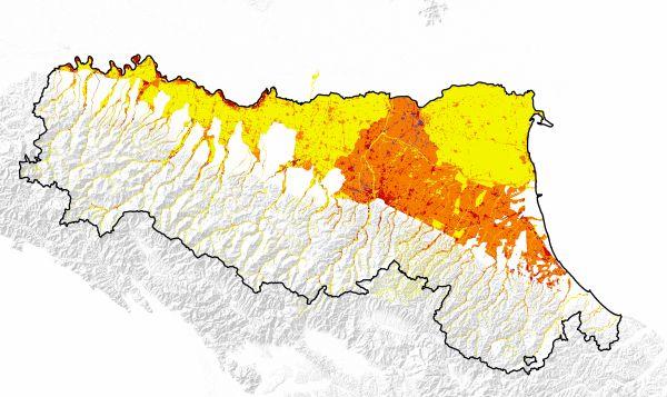 Mappe del rischio alluvioni dell'Emilia Romagna (Servizio Difesa del suolo, della costa e bonifica dell'Emilia-Romagna).