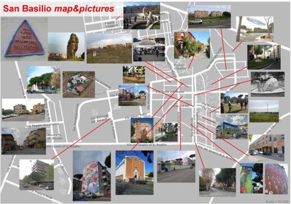 Il risultato dell'operazione mapping del quartiere romano.