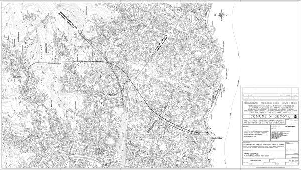 Il tracciato dello scolmatore del torrente Ferragiano.