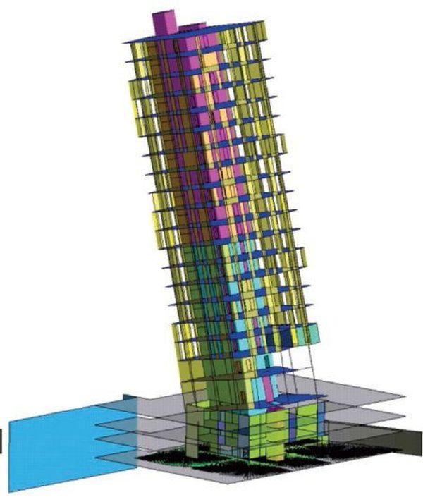 Simulazioni per la verifica strutturale delle due torri.