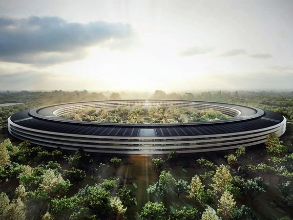 Nuovo Campus Apple (Ac2) a Cupertino, California, progetto di Sir Norman Foster.