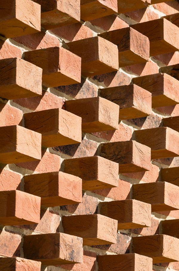 Dettaglio della tessitura muraria.