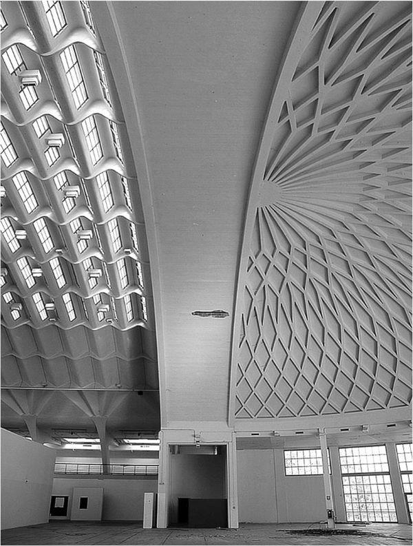 Interni delle volte del padiglione di Torino Esposizioni realizzate da Pier Luigi Nervi (fonte, Dipartimento Architettura e Design).