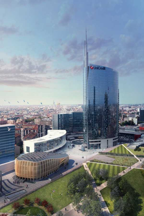 Il Pavilion è stato realizzato all'interno dell'area di trasformazione urbana più grande d'Europa per certificazione Leed. Il basamento su cui poggia era già ultimato prima della consegna delle aree di cantiere. (Foto di Michele De Lucchi)