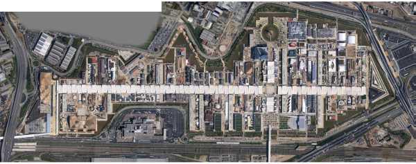 Vista aerea del sito espositivo (fonte: Expo 2015).