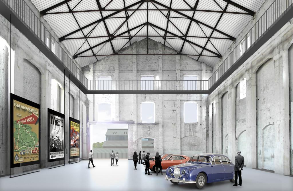 Immagini di interni dei capannoni 17 e 18 ristrutturati (©Andrea Oliva Architetto).