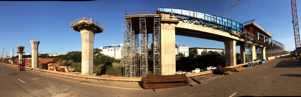 In Sudafrica le casseforme Pilosio per la costruzione di un tratto di svincolo autostradale.