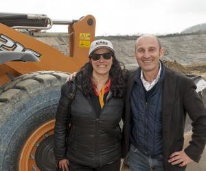 Alessandro Fresia, nuovo responabile comunicazione e marketing di Case Construction Italia., insieme a Chiara Tagliavini, responsabile customer care Emea per Cnh Industrial.
