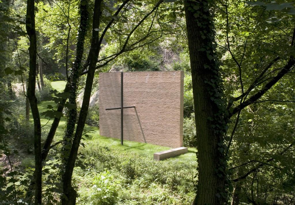 Paolo Zermani, Cappella nel bosco a Varano dei Marchesi, Parma.
