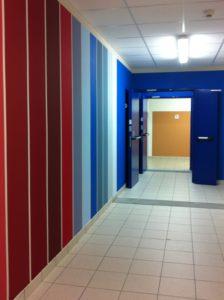 Casa di cura San Pietro per malati di Sla, Monza. I colori di Cromology per gli interni.