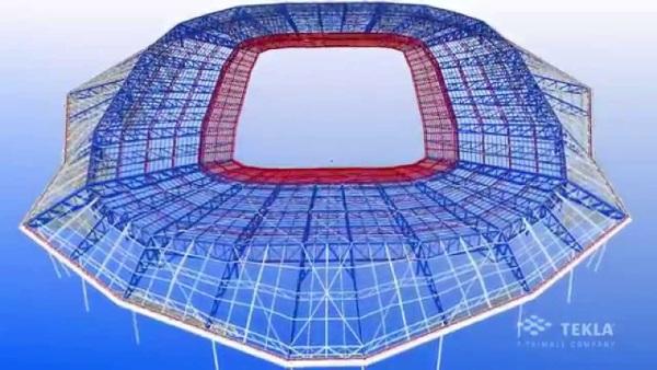 Lo Stade des Lumières a Lione.
