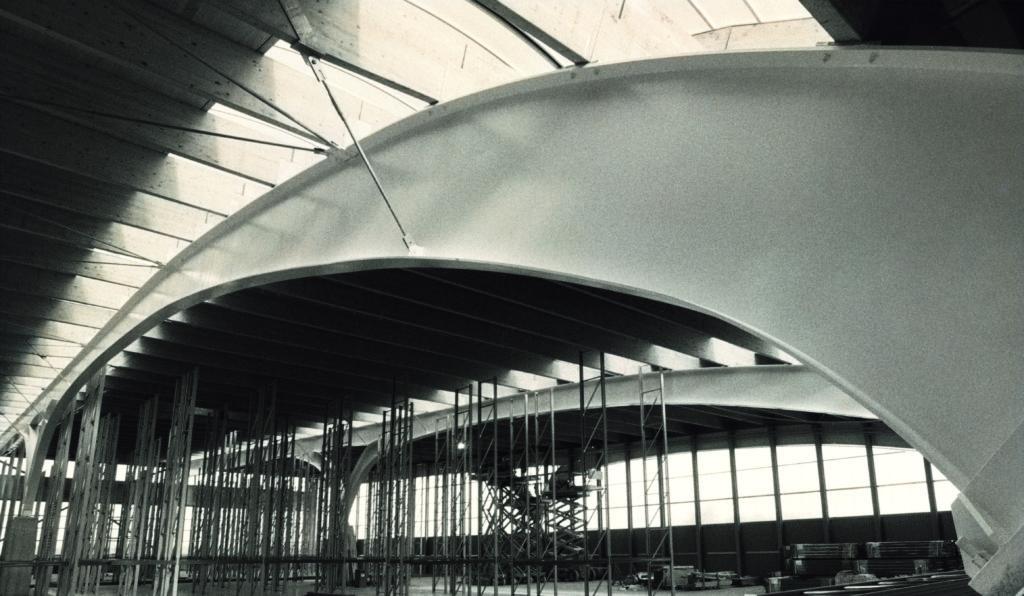 Vista del magazzino dell'Headquarter Nice, Arch. Carlo Dal Bo.