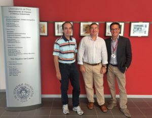 Da sinistra a destra, i professori Giacomo Ruggeri, Fabio Bellina e Andrea Pucci.