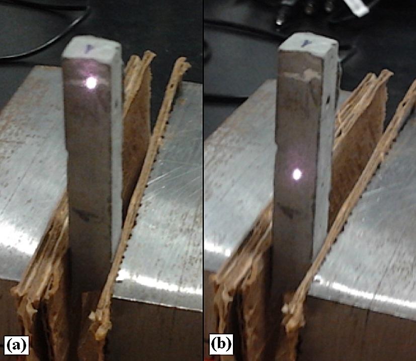 2. Misure effettuate variando la posizione (a, b) dello spot del laser sul campione [5].